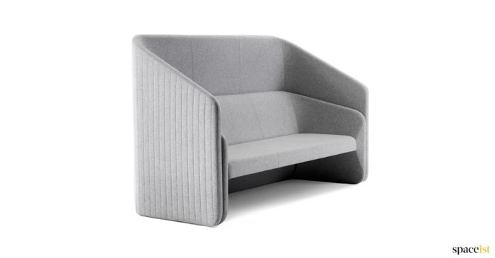 Race high back ribbed reception sofa