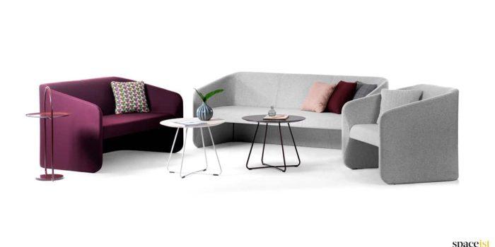 Race purple & grey reception furniture