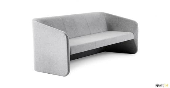 Reace reception sofa in grey wool fabric