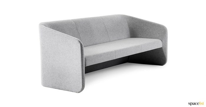 Reace reception sofa in grey wool fabric