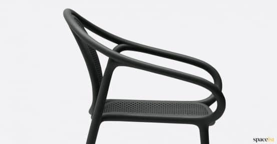Black chair closeup