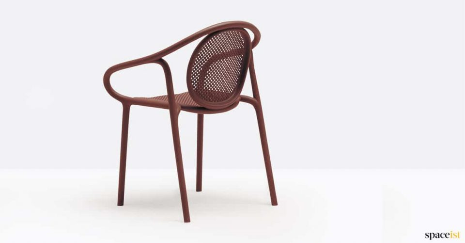 Red mesh cafe chair