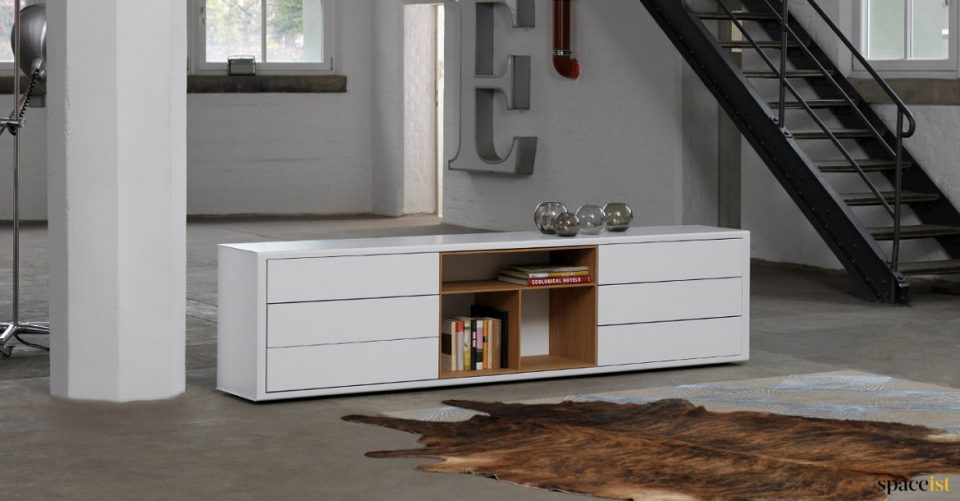 White low cabinet