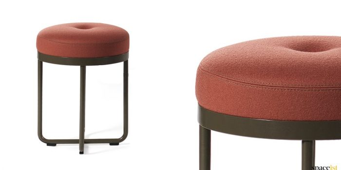 Shima small low stool red seat
