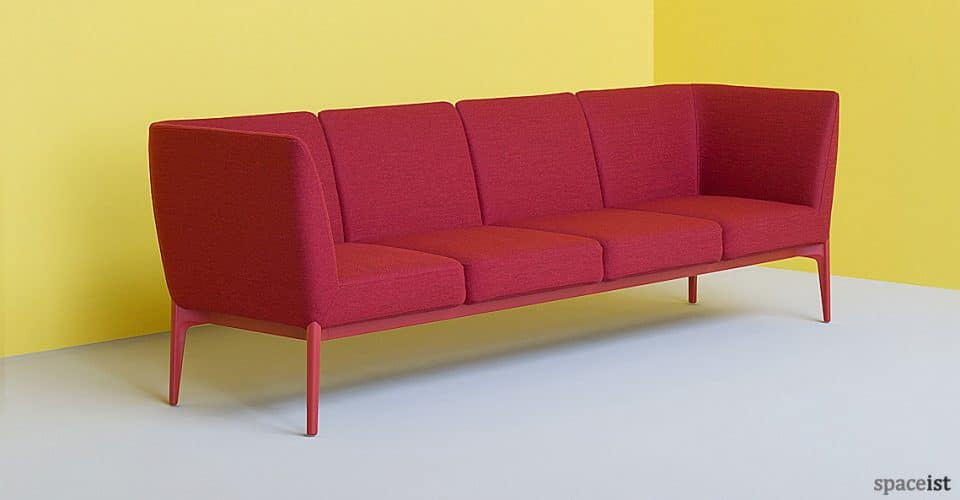 Spaceist Social red office sofa 1