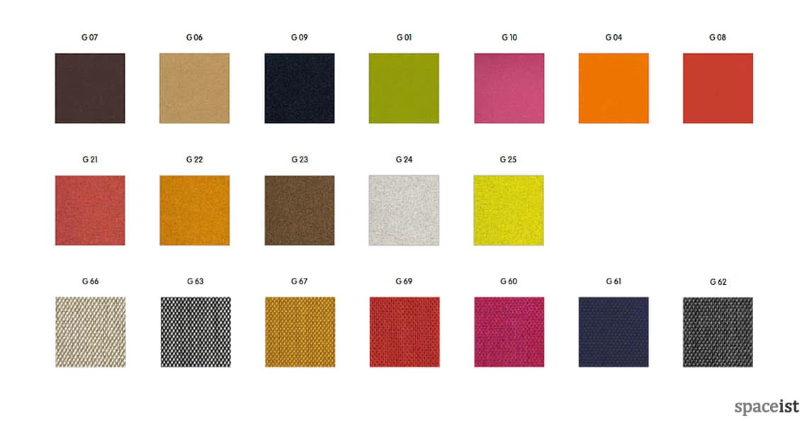 Spaceist Social sofa fabric colours
