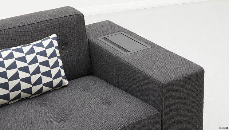 Sofa arm plug socket cover