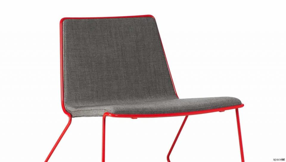 Red + grey chair