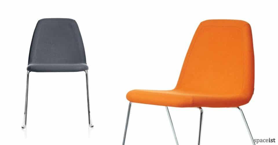 Sport grey orange office meeting chair