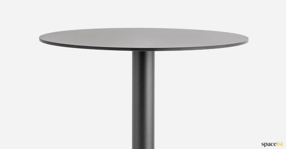 Black cafe table top