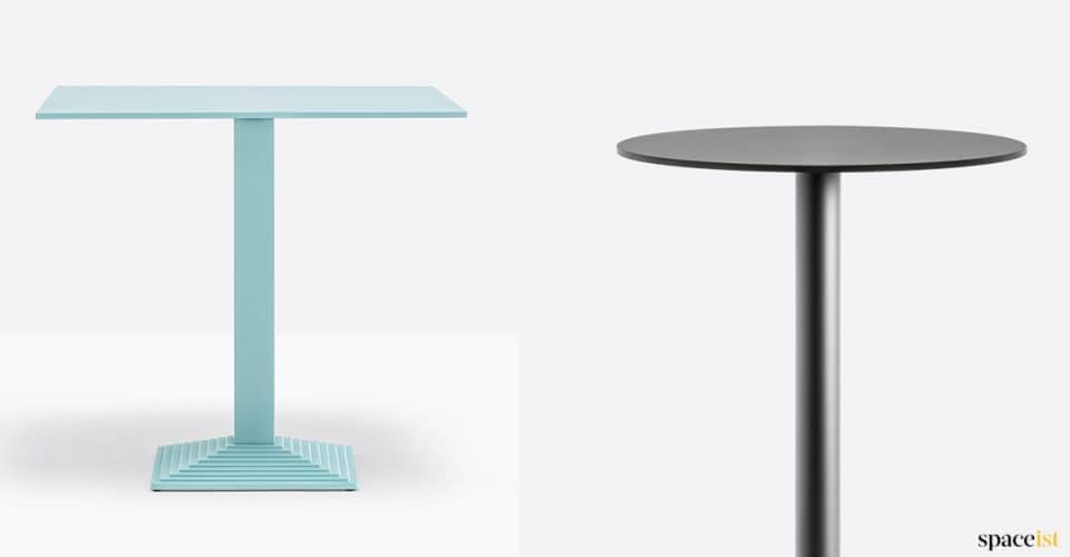 Blue step cafe table