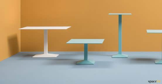 White large cafe table