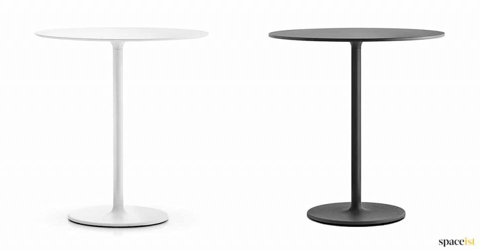 Stylius white + black round cafe table