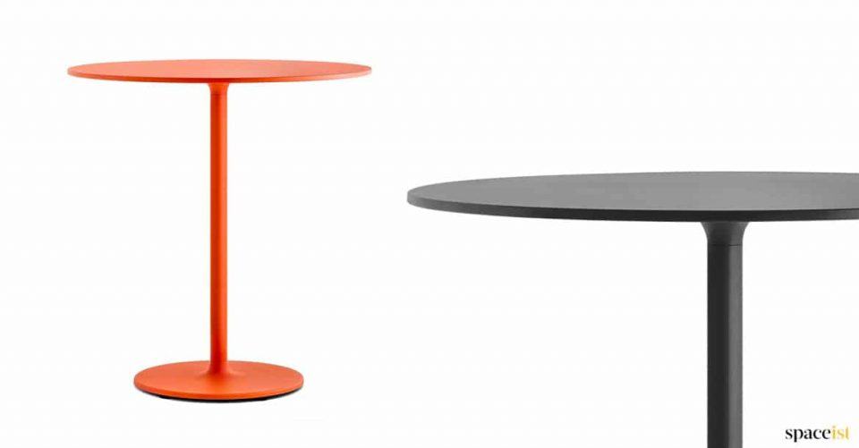 red-orange commercial cafe table
