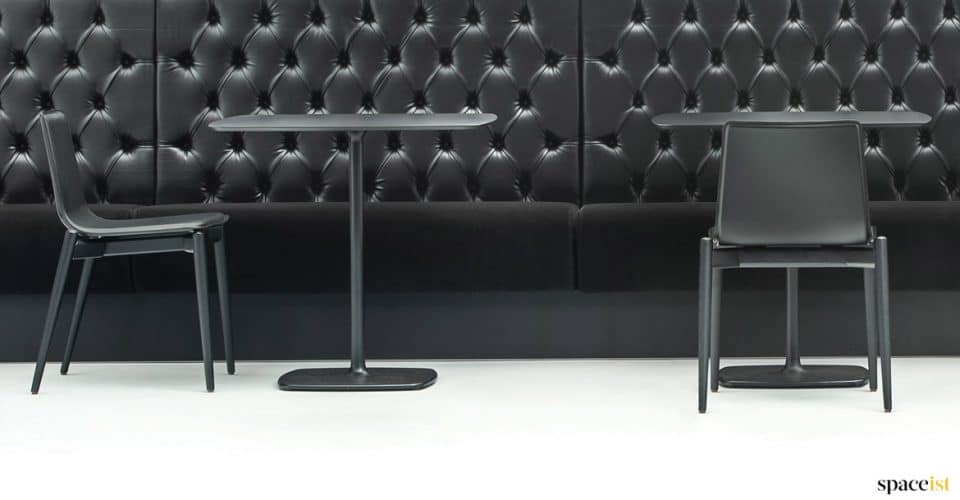 Stylus black cafe table