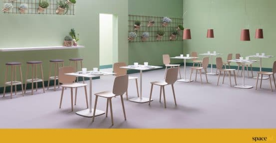 White cafe furniture