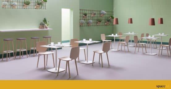 White cafe furniture