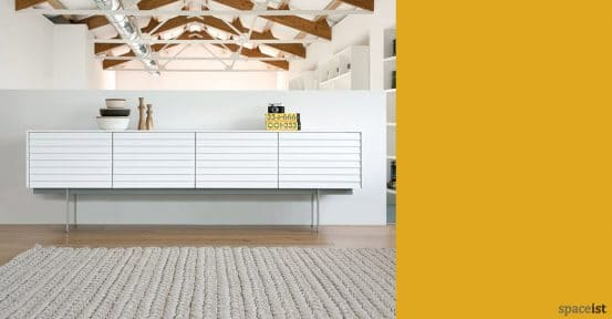 sussex white cabinet with slatted white doors