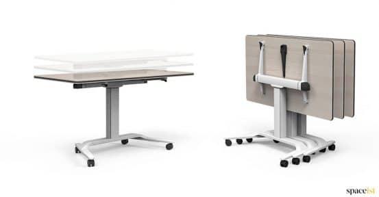 Height adjustable folding desk