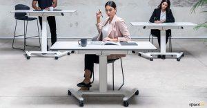 Talent folding desk with wheels