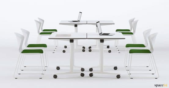 Folding white desk