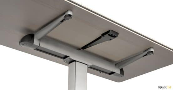 Folding desk under side detail