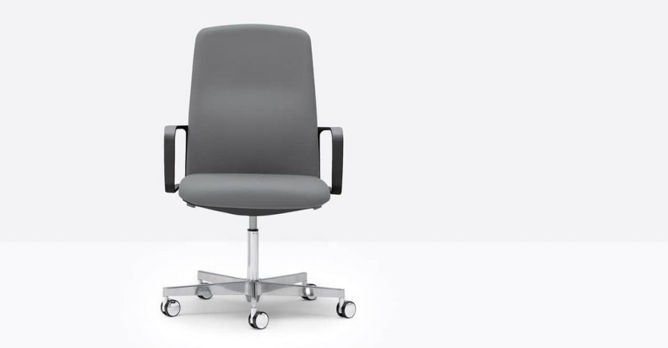 Grey and black desk chair