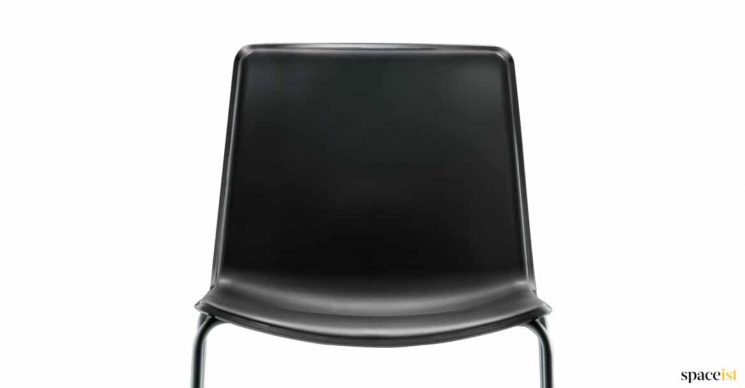 All black cafe chair