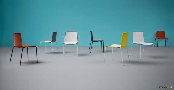 Colourful chair range