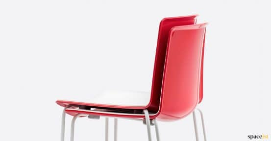 Glossy red chair