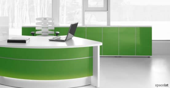 Valde green glass reception storage
