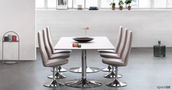 Viggen grey retro high back meeting chair