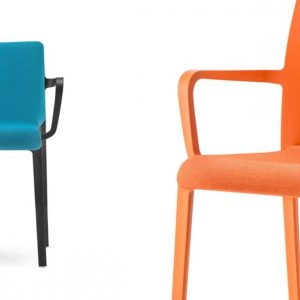 Volt meeting chair low back in blue and black