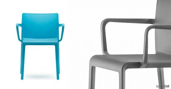 Volt design-led blue meeing chair with arms