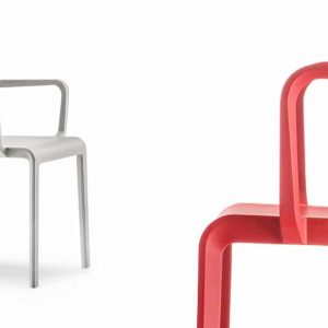 Volt beige and red meeting chair
