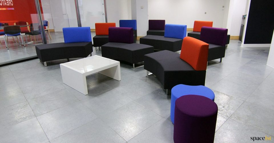 Audience seating movable