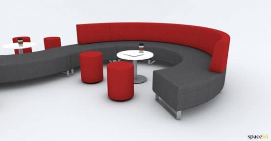 waving breakout sofa in red
