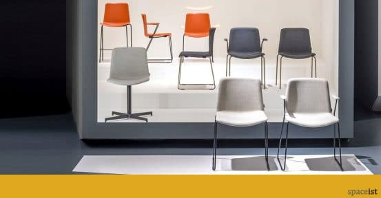Weet meeting chair range grey