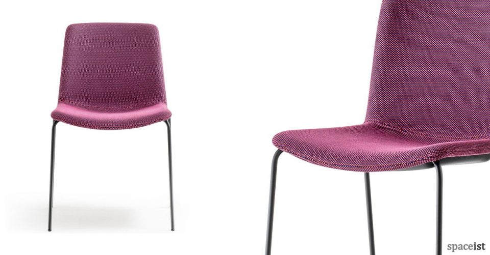 Weet design-led meeting chair in purple