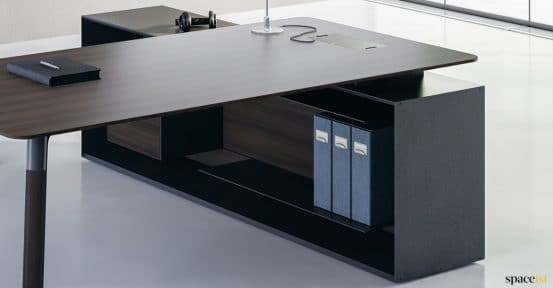 Designer executive desk walnut