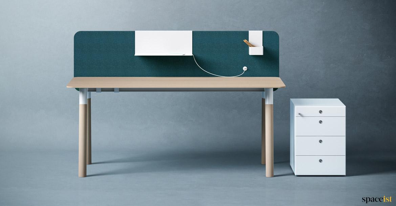 Wood Desks Woods Very Long Desk Spaceist Office Furniture