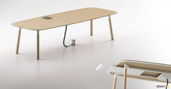 Woods meeting table detail