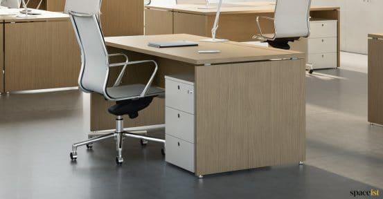 Oak desk paneled