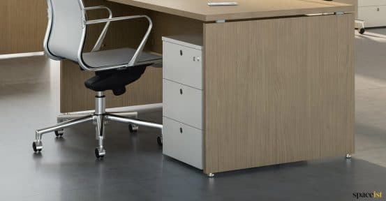 Spaceist-XL-white-under-desk-pedastal