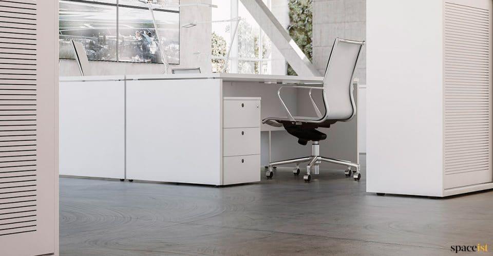 Xl white under desk drawers
