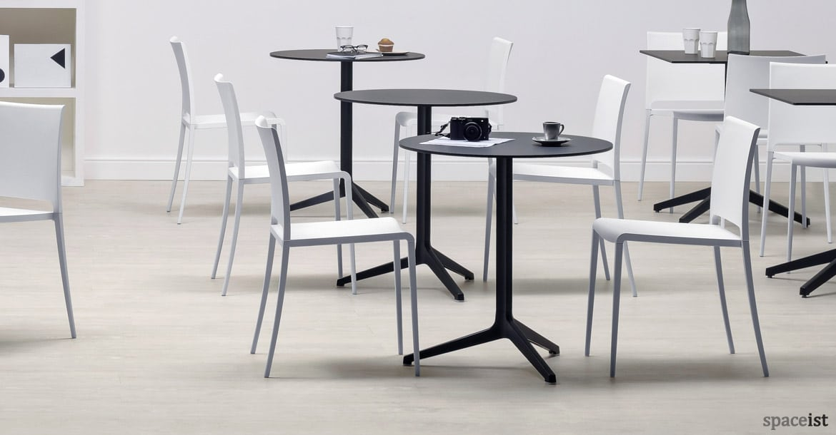 Ypsilon Round Folding Cafe Table In Black