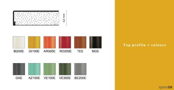 Ypsilon cafe table metal top colours