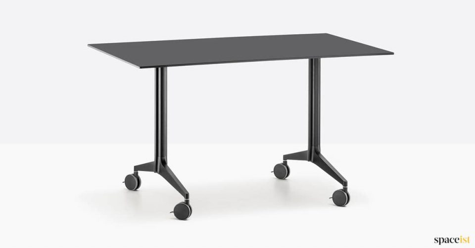 Black folding table to seat 4