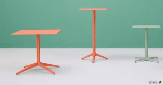 Ypsilon orange cafe table