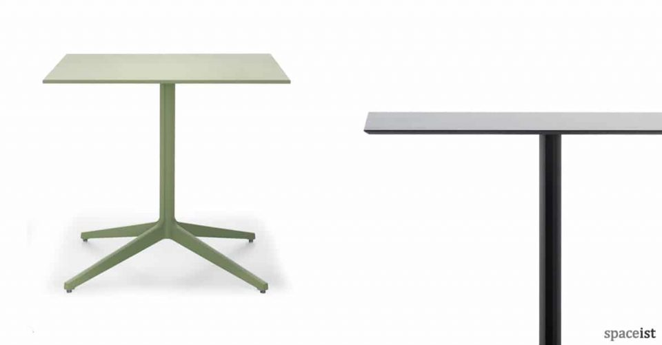 Ypsilon large green outdoor cafe table